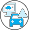 icon of smarter decisions and actionable insights related to hyper-critical traffic management