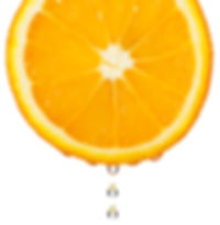 Section orange with drop. The detailed p