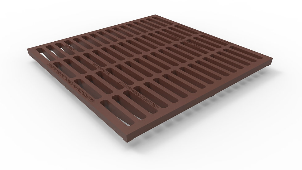 """38"""" wide cast iron slotted trench drain grate"""
