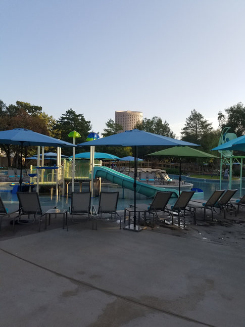 Trench drain system at pool and waterpark by DuraTrench