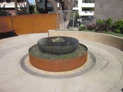 Fountain radius trench drain