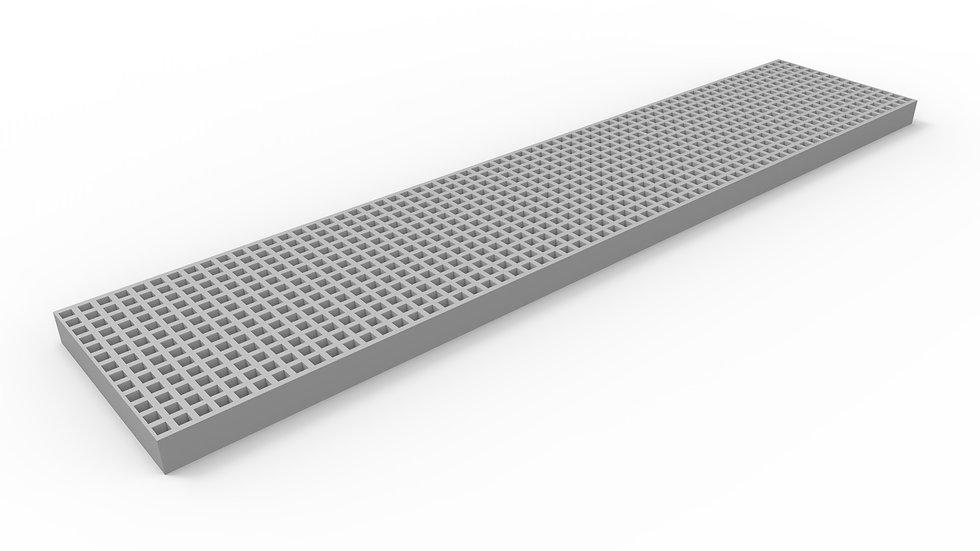 "10"" wide ADA compliant fiberglass mesh trench drain grate"