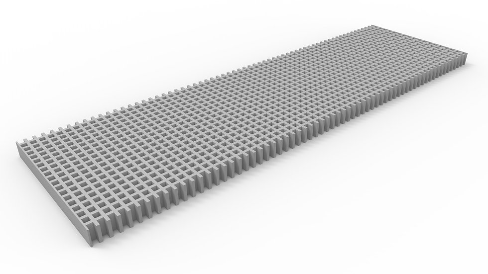 "14"" wide ADA compliant fiberglass mesh trench drain grate"