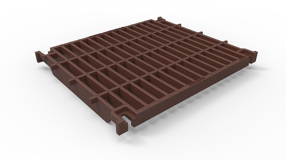 """20"""" wide ductile iron slotted trench drain grate"""