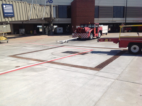 Trench drains at Richmond International Airport