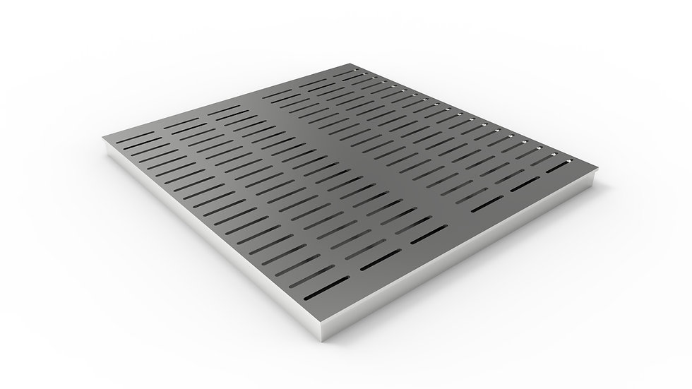"26"" wide ADA/Heel proof stainless steel slotted trench drain grate"