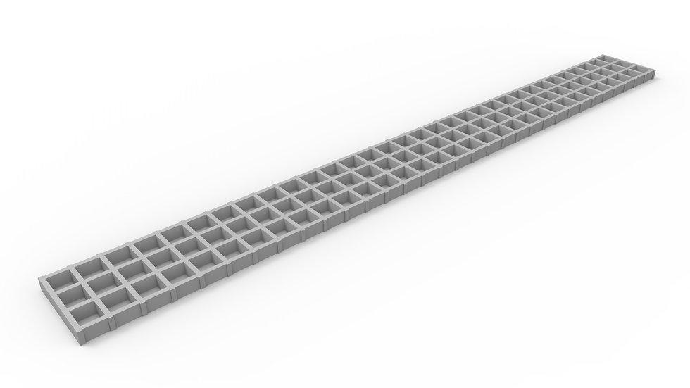 "5"" wide fiberglass mesh trench drain grate"
