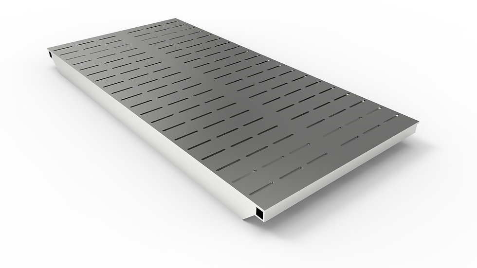 "50"" wide ADA/Heel proof stainless steel slotted trench drain grate"