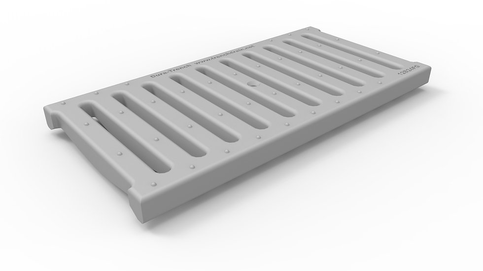 "12"" wide FRP slotted trench drain grate"