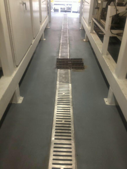 Wide stainless steel trenches