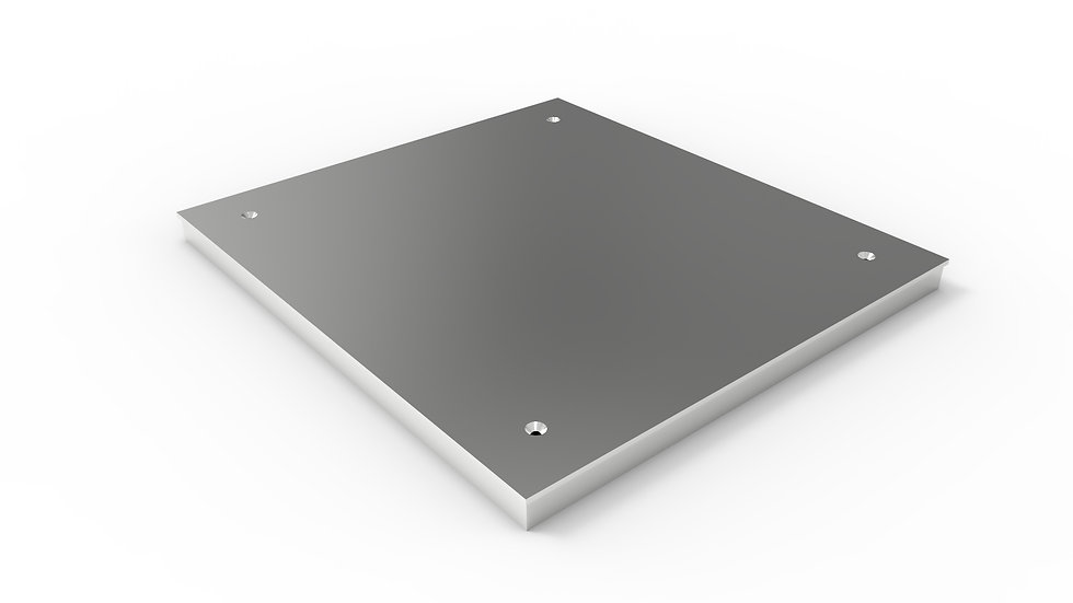"26"" wide stainless solid trench drain cover"