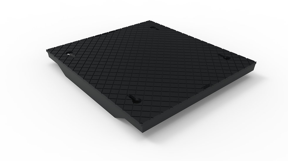 """26"""" wide black ductile iron solid trench drain cover"""