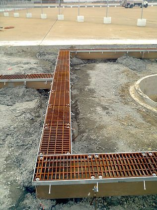 Airport apron drainage