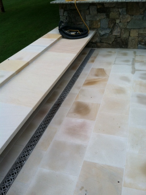 Residential patio trench drain system by Dura Trench