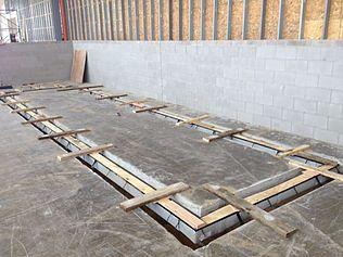 Industrial equipment pad