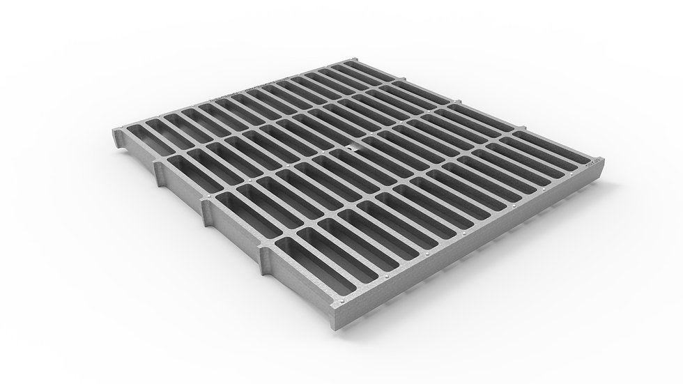 "26"" wide galvanized iron slotted trench drain grate"
