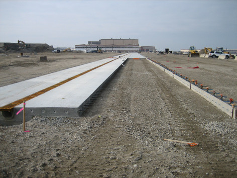 Trench drains at P501 Apron Norfolk Naval Air Station