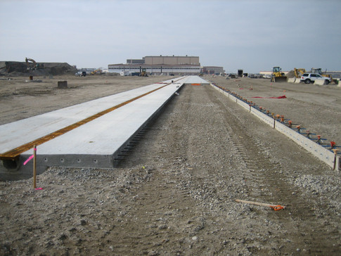 Trench drains at P501 Apron Norfolk Naval Air Station