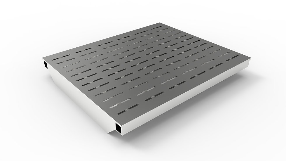 "20"" wide ADA/Heel proof stainless steel slotted trench drain grate"