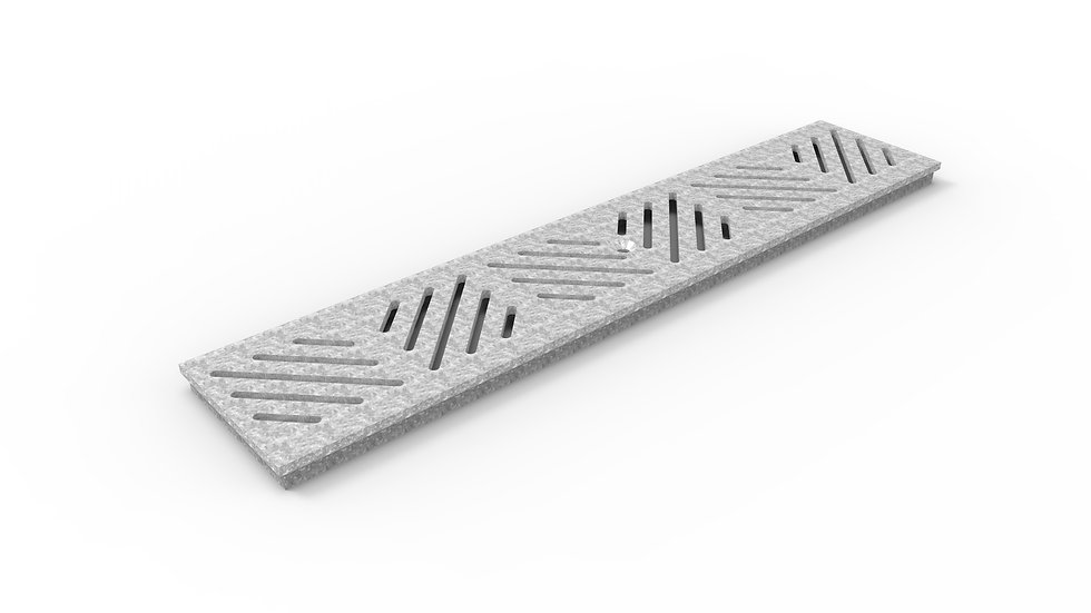 """5"""" wide galvanized diagonal slotted trench drain grate"""