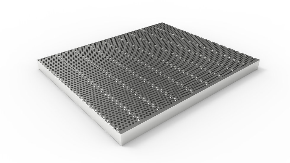"26"" wide stainless perforated trench drain grate"