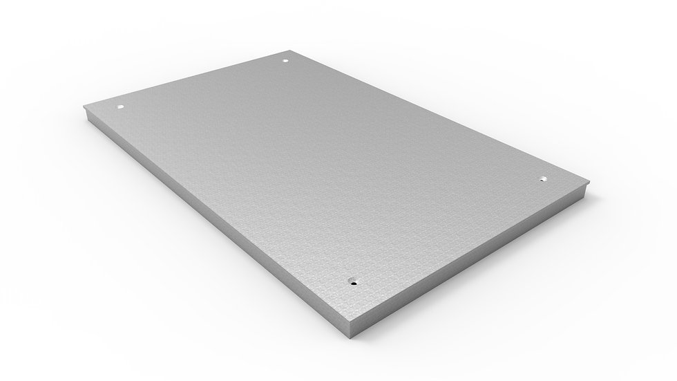 "38"" wide galvanized solid trench drain cover"