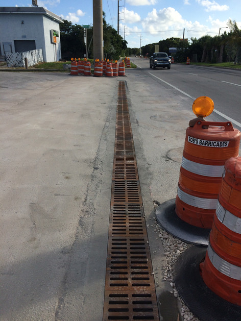 Entrance trench drains