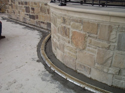 Residential radius trench drain