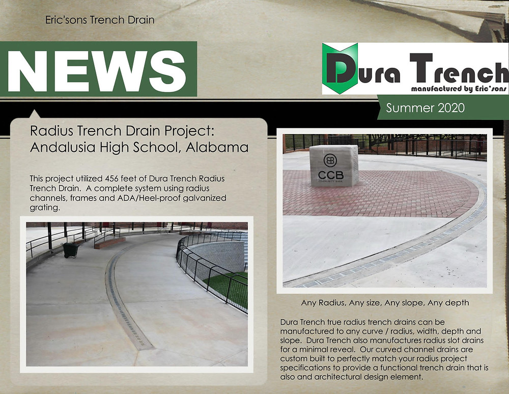 DuraTrench true radius trench drains