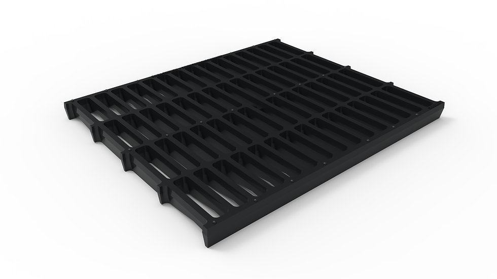 "20"" wide ductile iron slotted trench drain grate"