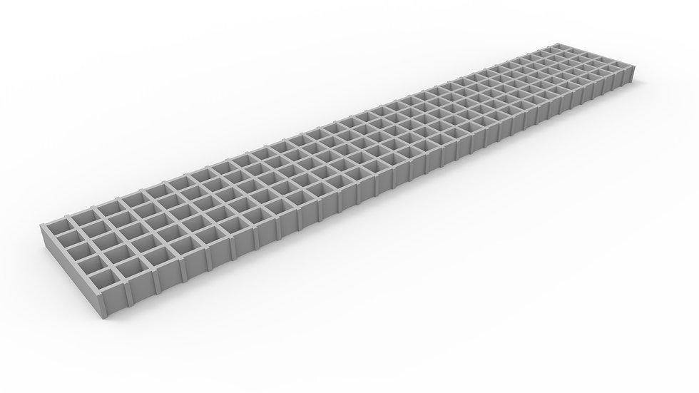 "8"" wide fiberglass mesh trench drain grate"