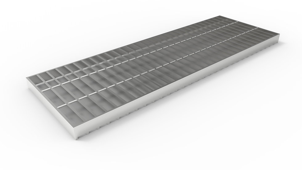 """12"""" wide stainless steel trench drain bar grate"""