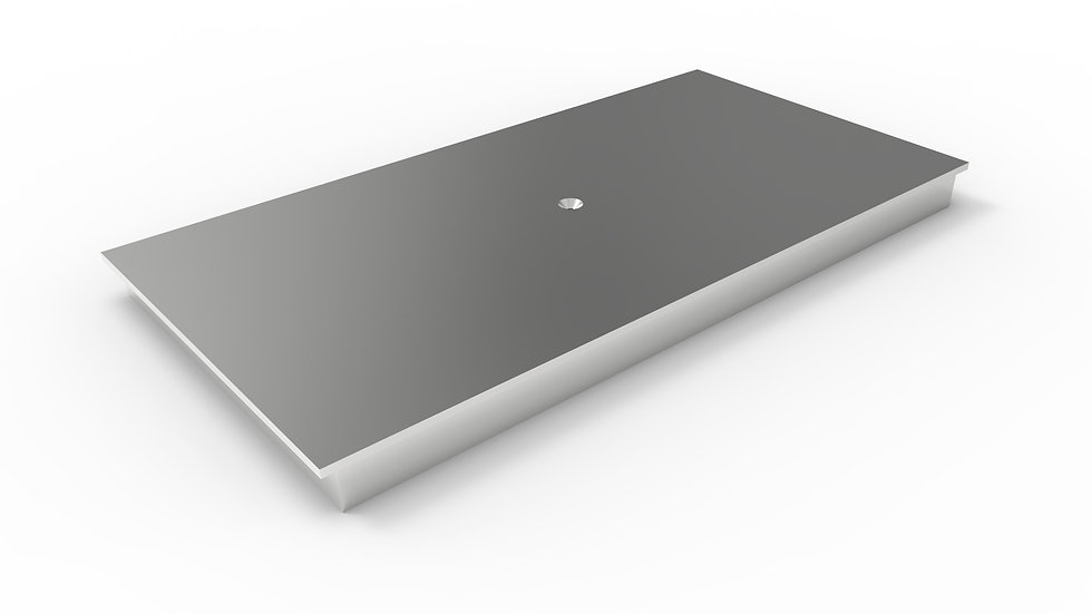 """14"""" wide stainless solid trench drain cover"""