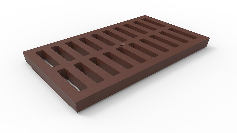"""14"""" wide cast iron slotted trench drain grate"""