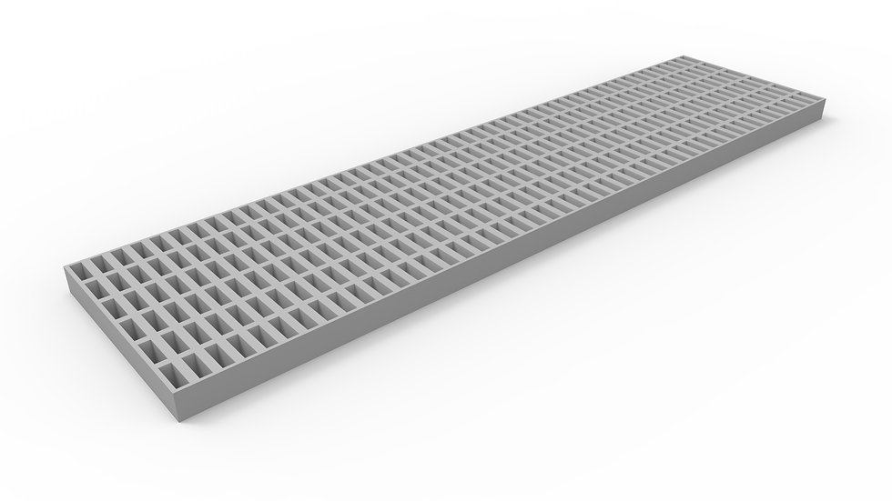 """12"""" wide pultruded fiberglass trench drain grate"""