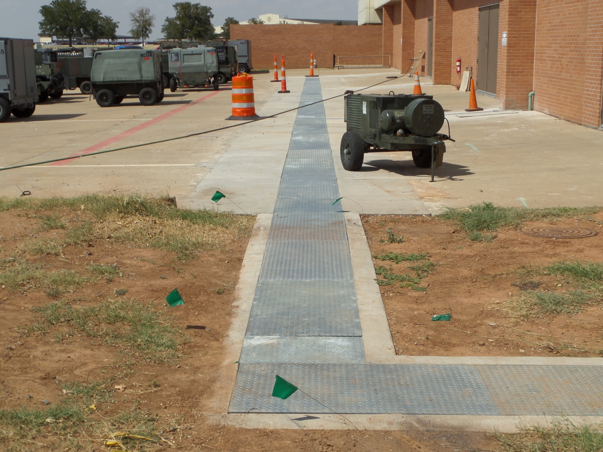 Military utility trench