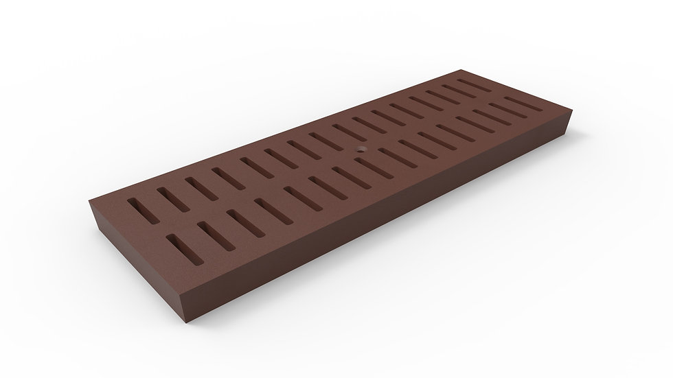 """8"""" wide ADA/Heel Proof cast iron slotted trench drain grate"""