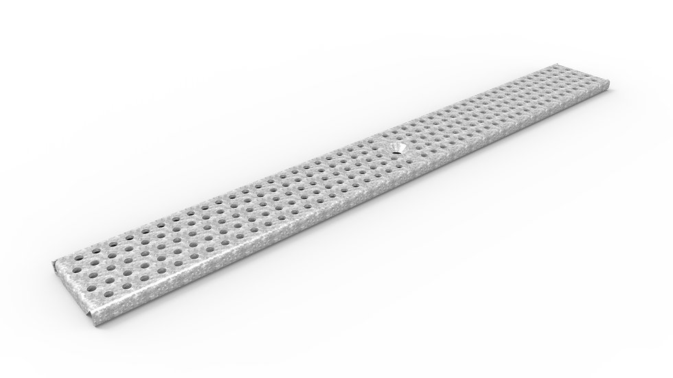 "3"" wide perforated galv steel trench drain grate"