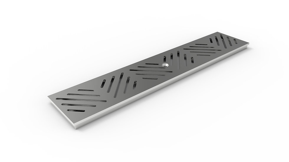 "5"" wide stainless diagonal slotted trench drain grate"