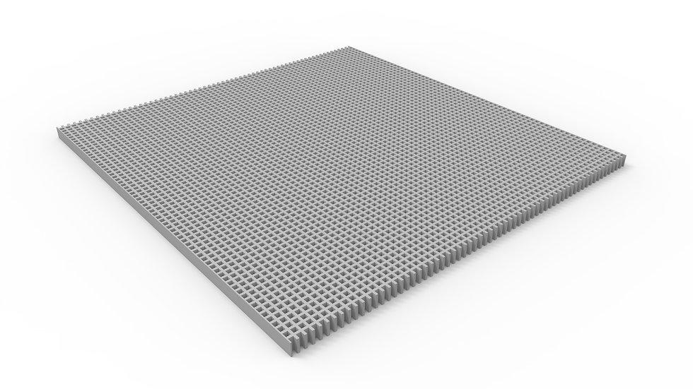 "50"" wide ADA compliant fiberglass mesh trench drain grate"