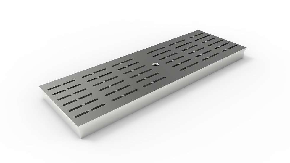 "8"" wide ADA/Heel Proof stainless slotted trench drain grate"