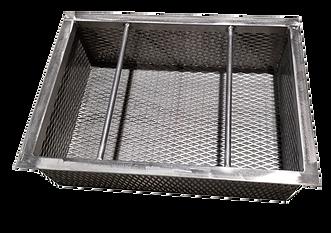 Trench drain filtration basket with 50 mesh trash basket
