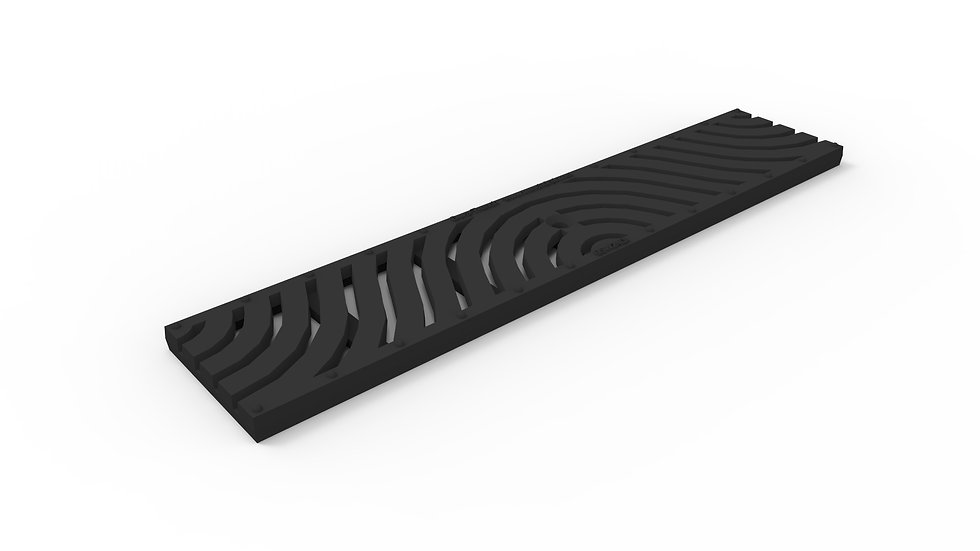 "5"" wide iron wave pattern trench drain grate"