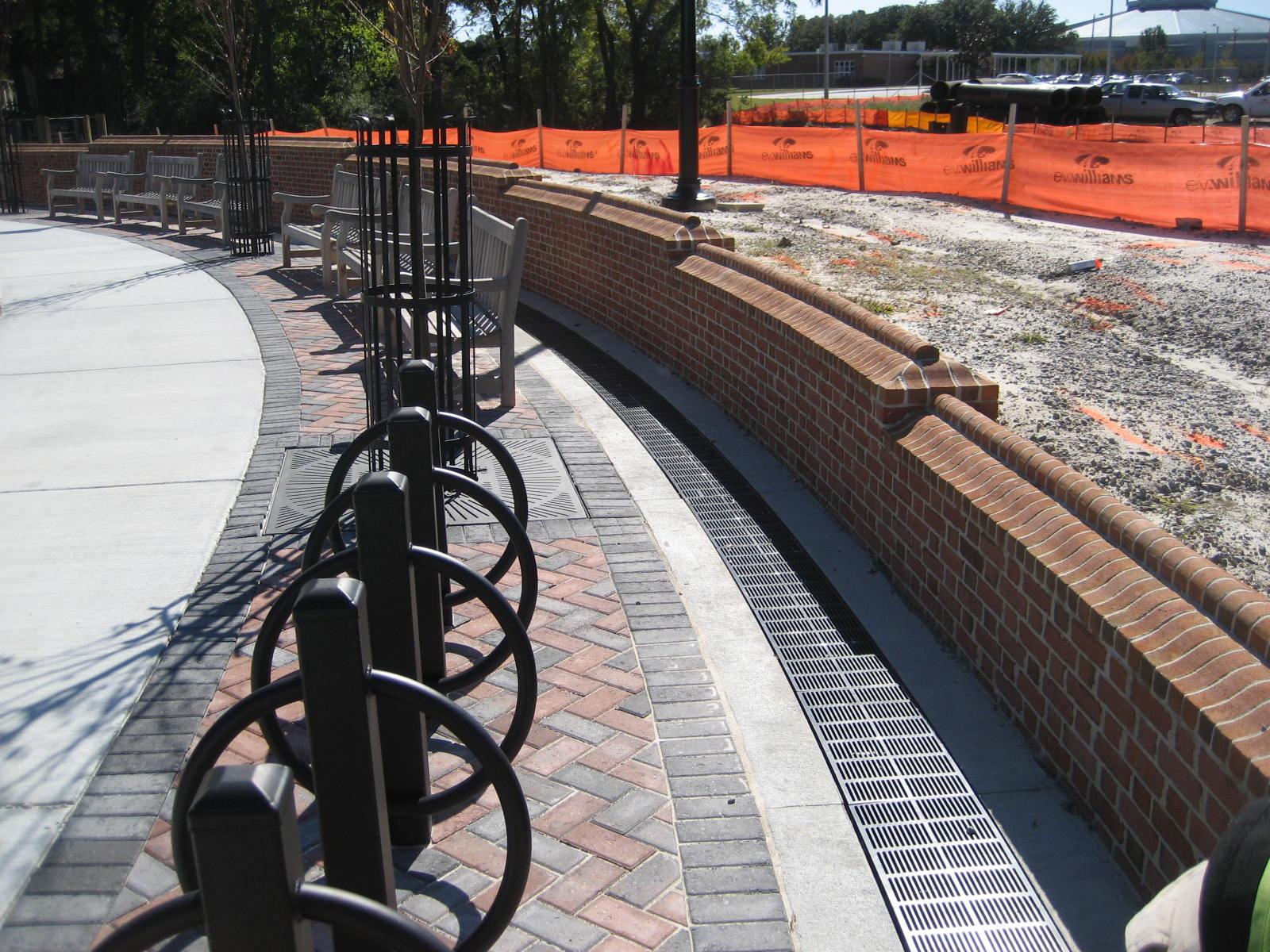 Park retaining wall