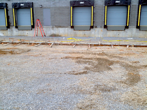 Loading dock trench drain