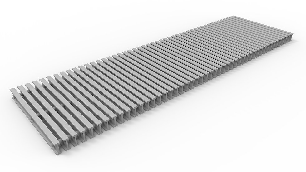 "14"" wide ADA compliant fiberglass trench drain bar grate"