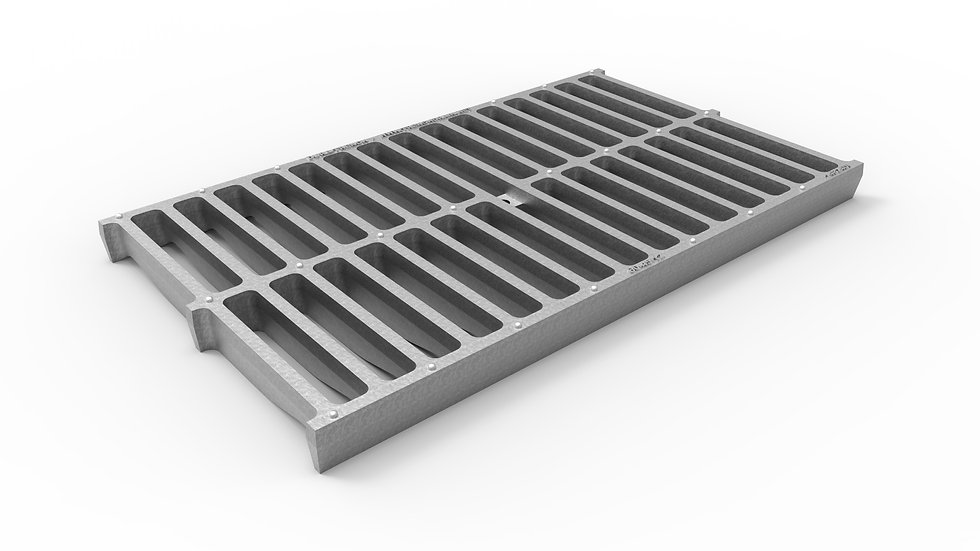 """14"""" wide galvanized iron slotted trench drain grate"""