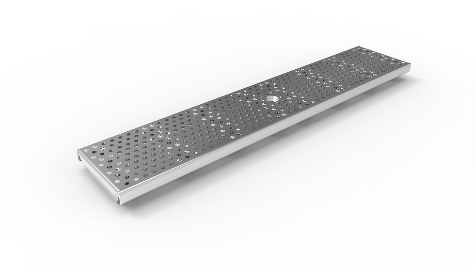 "5"" wide perforated stainless steel trench drain grate"