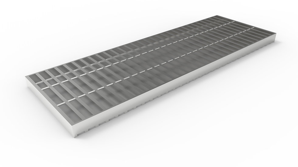 "12"" wide stainless steel trench drain bar grate"