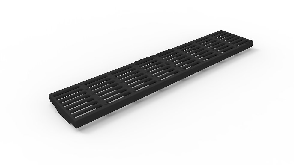 "5"" wide ADA / Heel proof longitudinally slotted ductile iron trench drain grate"